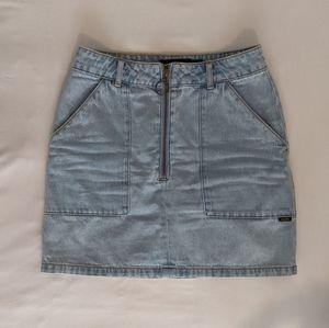 Afends denim light-wash mini skirt